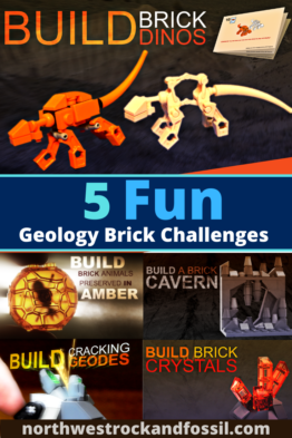 Fun Brick Challenges, Geology for Kids, Dinosaurs for Kids, Fossils for Kids, Lego Fun, Lego Challenges
